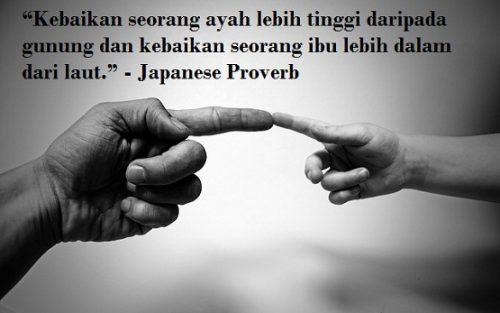 Kebaikan Orang Tua Sangatlah Besar Menurut Kalimat Bijak Yang Berasal Dari Japanese Proverb