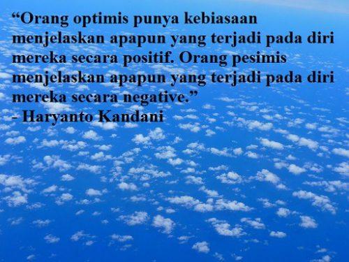 Kata Kata Optimis Dalam Hidup
