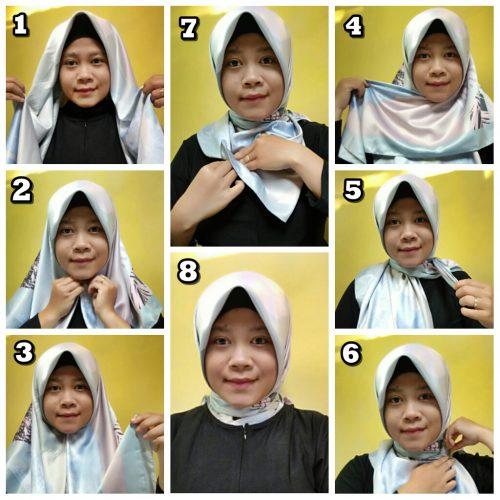 Tutorial Hijab Ibu Pejabat Simple Leiner Fashion