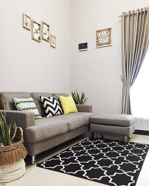Desain Ruang Tamu Minimalis Grey