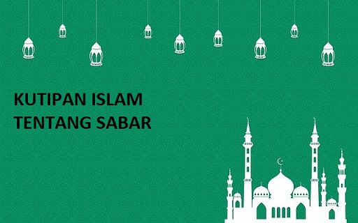 Kutipan Islam tentang sabar